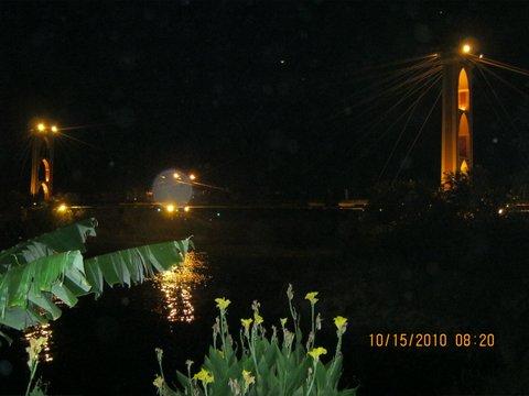 Bridge across Euphrates from Syria to Iraq