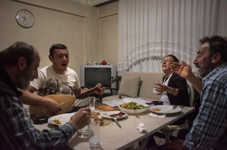Dinner in the last Armenian village in Turkey today