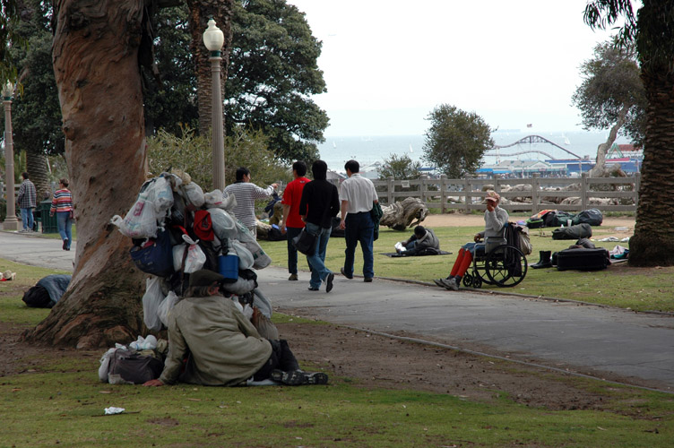 homeless in santa monica