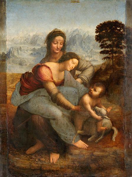 da Vinci, Virgin and Child with St. Anne