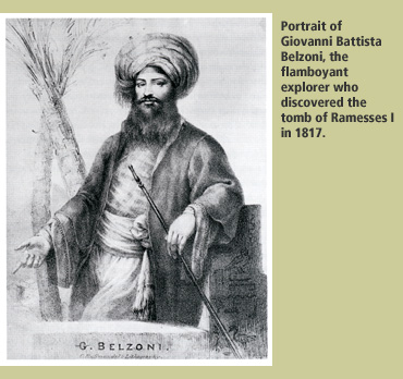 Belzoni in 1817, in his pasha costume