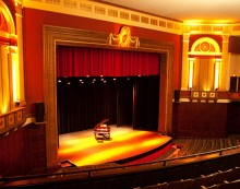 the Ebell Theater without journalists