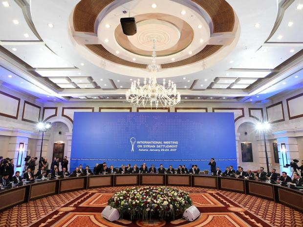 International conference on peace in Syria, Hotel Rixos, Kazakhstan